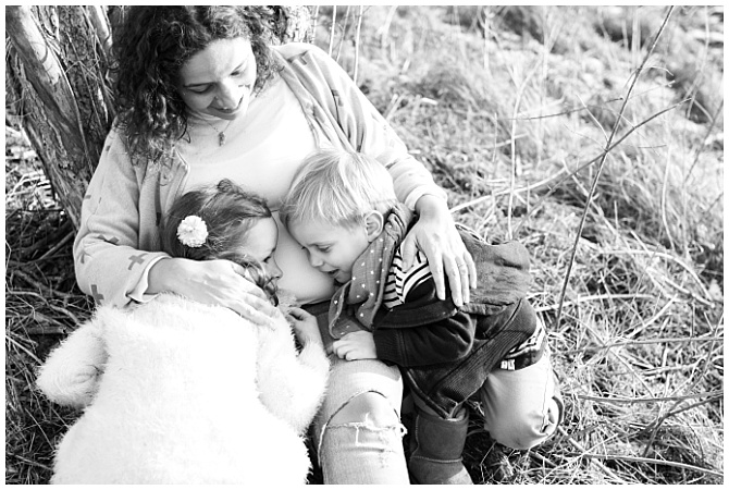 Wintershooting Familie