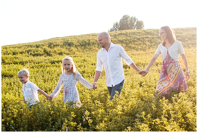 Familienshooting in der Abendsonne